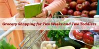 Grocery Shopping for Two Weeks and Two Toddlers