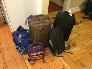 This is out packing for a week for a family of four... Next time less!