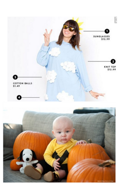 these costumes made from pjs are comfy and cute