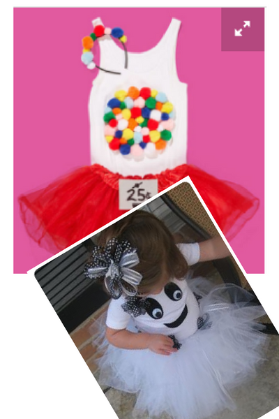 These cute costumes are made using tutus
