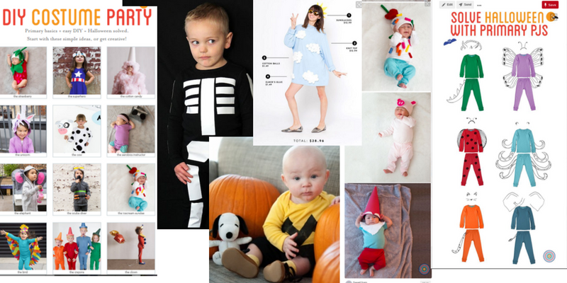 An easy Halloween Costume can be made from simple pajammas