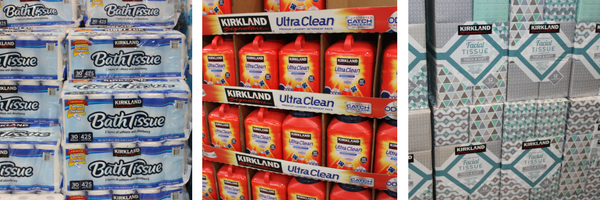 Costco Paper Products and Cleaning Supplies