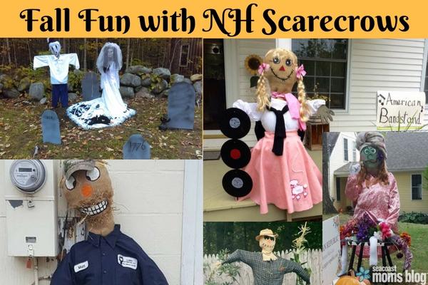 Fall Fun in NH with Scarecrows