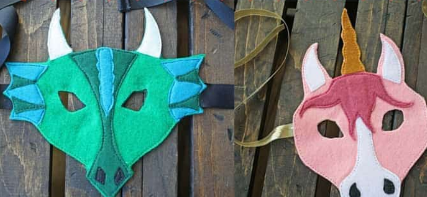 these beautiful masks are a great way to make a simple halloween costume