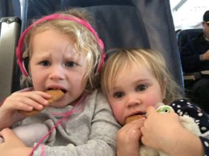 Flying with small children