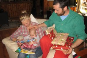 Christmas Day 2015. Two days after our hospital visit. Having Charlie healthy was the best gift we received.