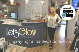 "Nancy Slater at her boutique ""Let's Glow""."