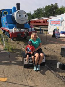 Thomas the Train in background