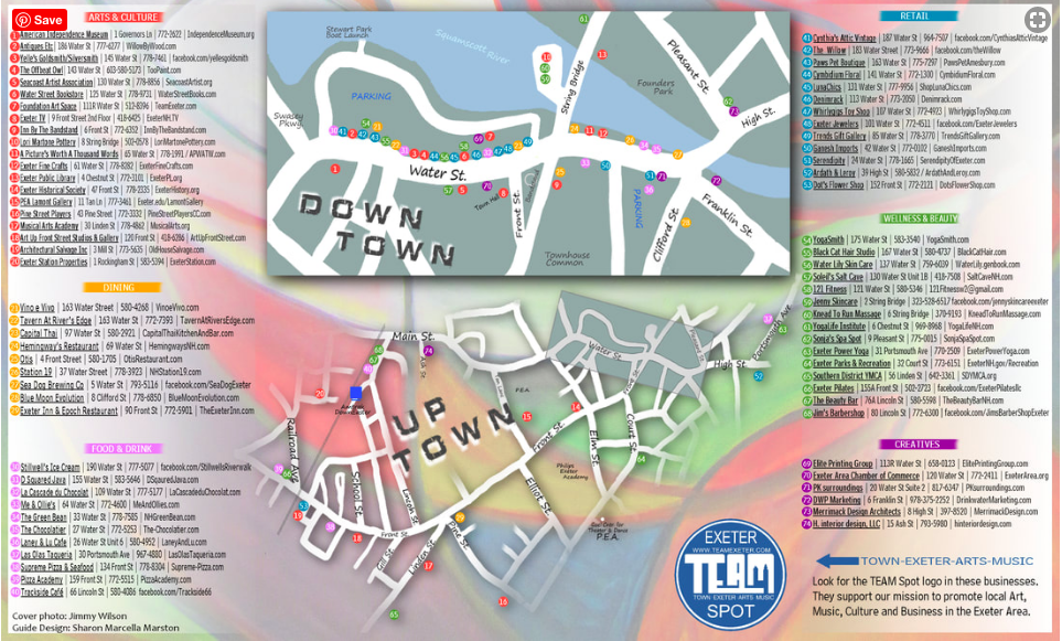 Exeter Neighborhood Guide for Families Map
