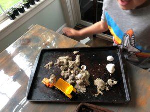 outdoor sensory play - sand dough
