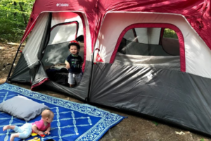 Camping with baby and toddler