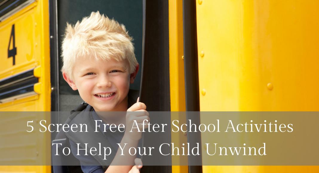 Screen free after school activities