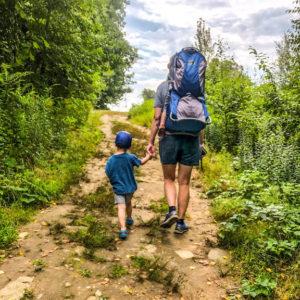 hiking at stratham hill