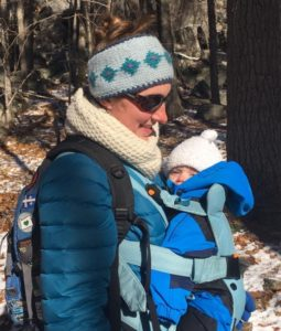 carrying baby in winter