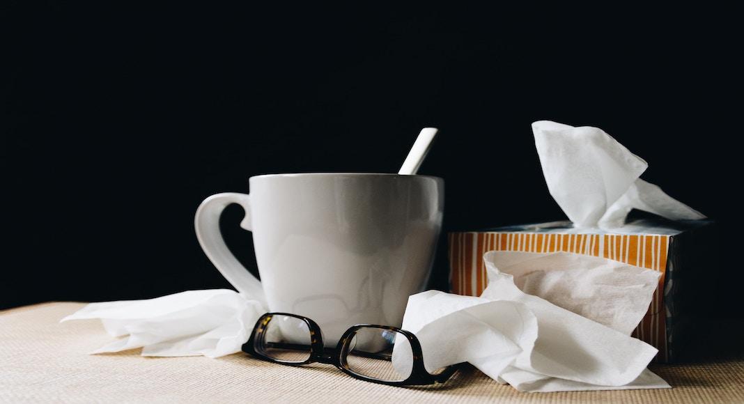 Man Flu remedies: cup of tea, box of tissues