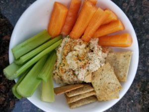 veggie place with carrots, crackers and celery - kid that won't eat vegetables