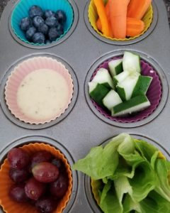 food in muffin tray - ideas for getting kids to eat vegetables