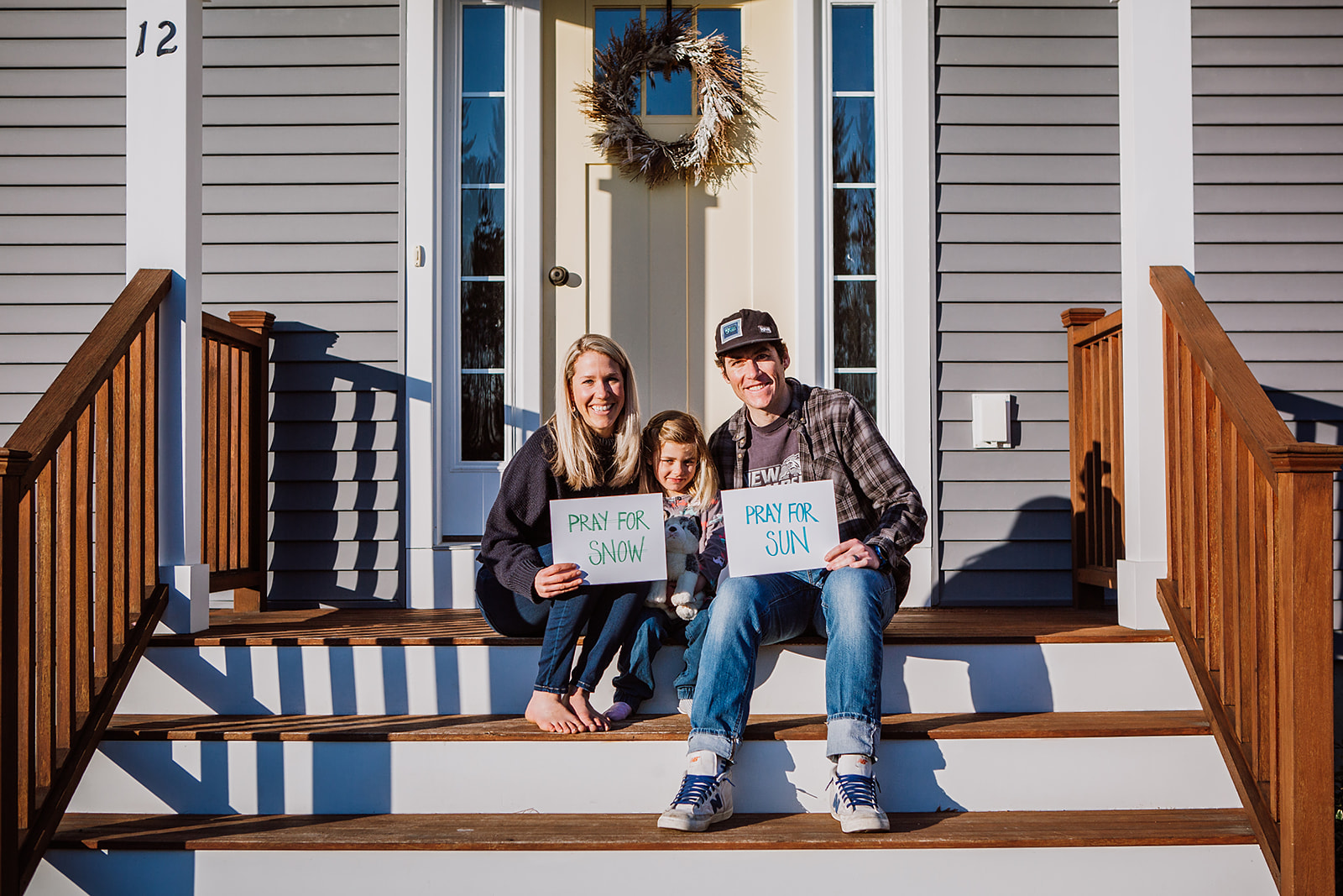 front steps family photo