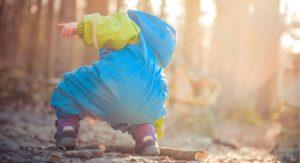 toddler on seacoast nature walk