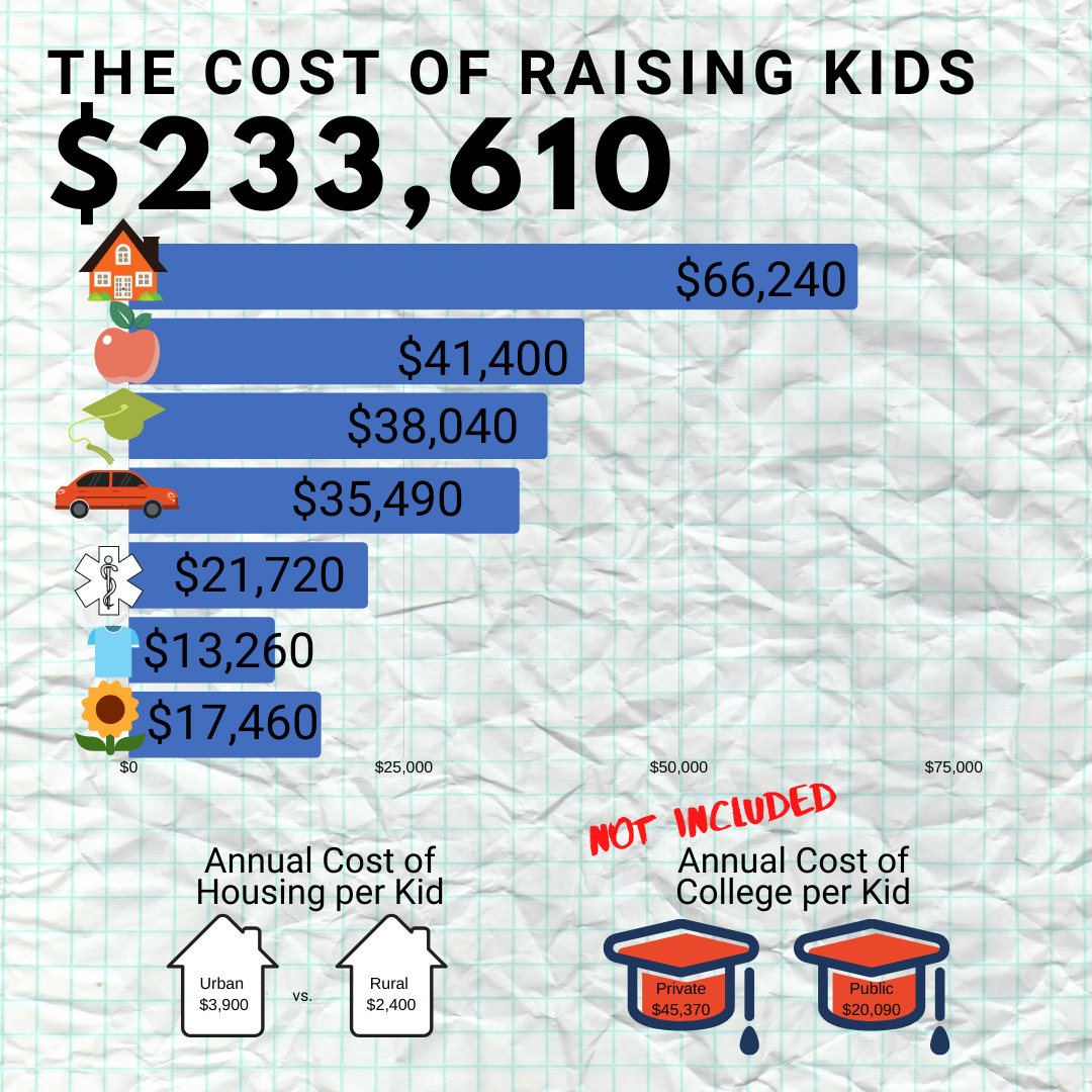 raising kids is costly and often there is no extra money