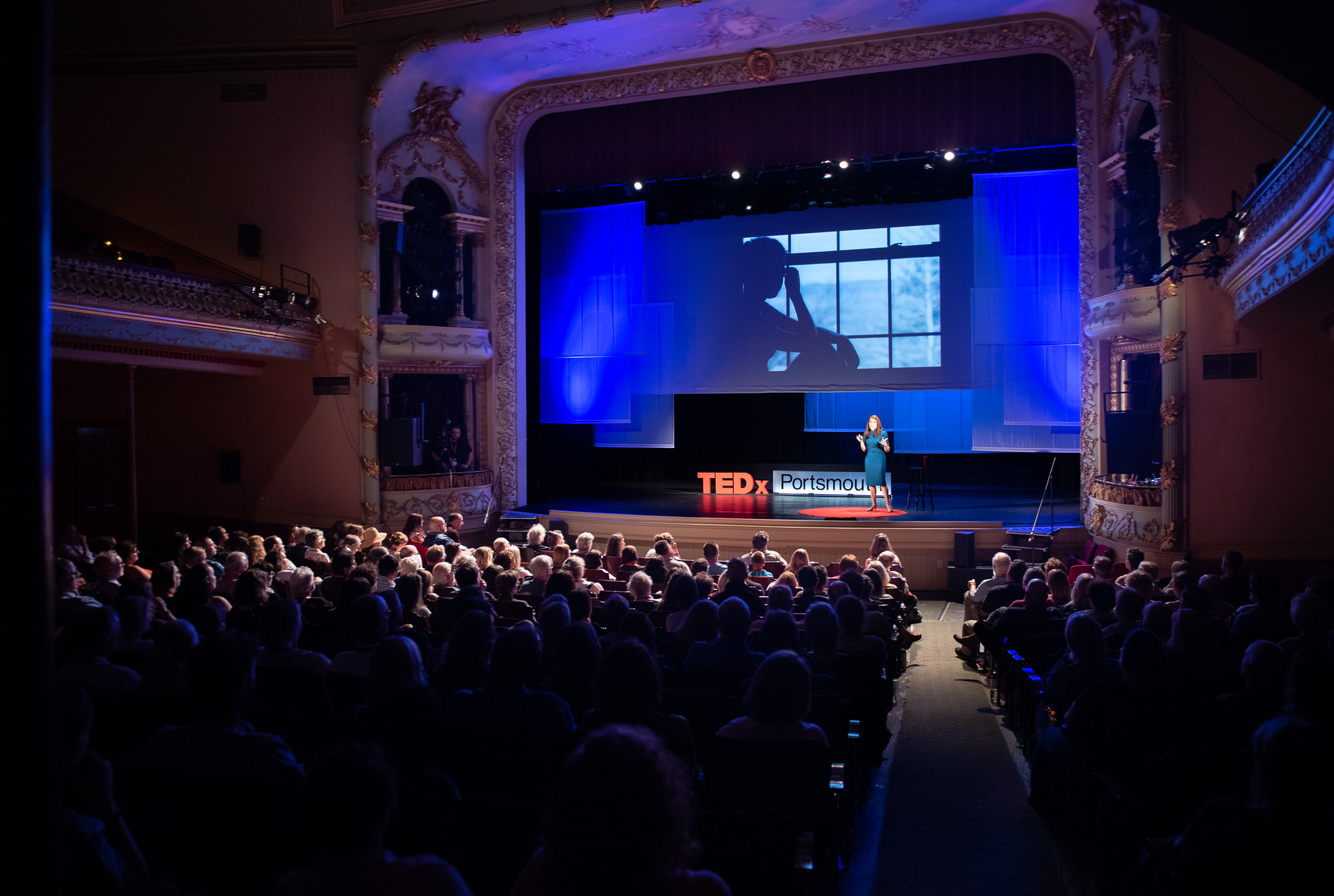 TEDx Portsmouth Large audience with stage