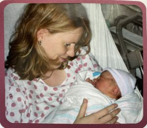 mom with newborn - art of storytelling a birth story