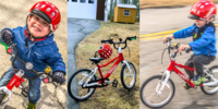 young child and bike