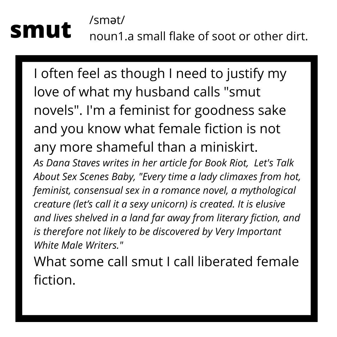 this is a reading list full of what some call smut. you know what? who cares