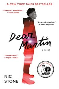 Dear Martin by Nic Stone - Young Adult books from black authors
