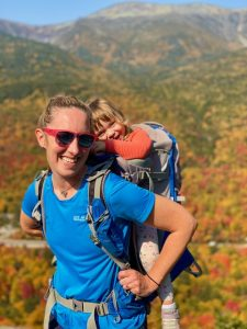 Mom and daughter on fall hike