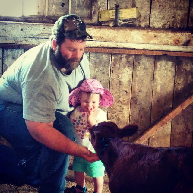 The kids play an important role in handling the calves