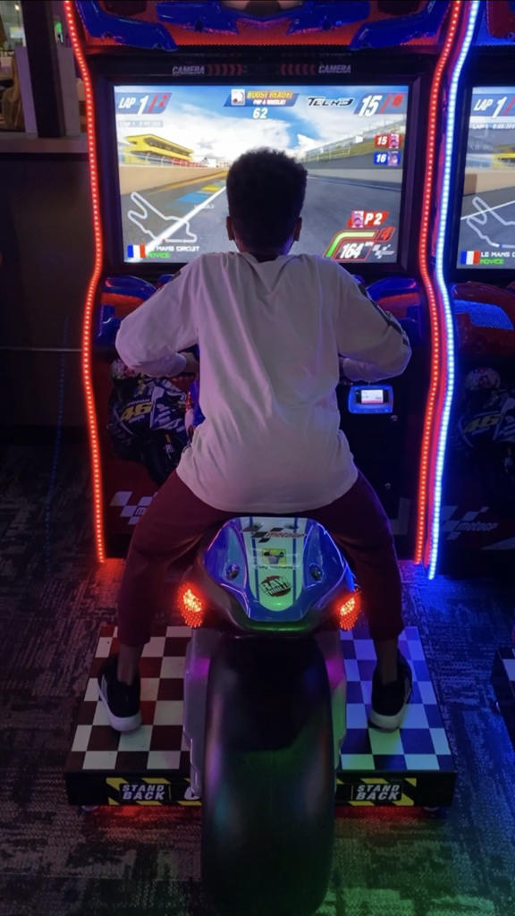 Boy in arcade at PiNZ Portsmouth