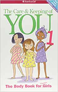 The Care and Keeping of You - Book Cover. Illustration of three girls in bath towels -- about having the talk with your kids.
