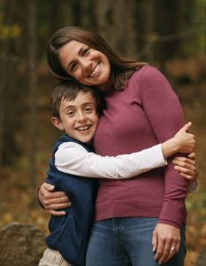 Mom and son hugging - is the future female?
