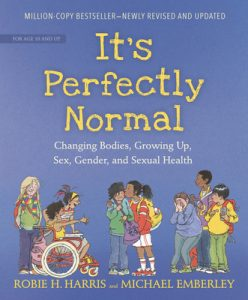 It's Perfectly Normal - Book cover with illustrations of kids - books about puberty for kids