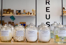 Jars full of refillable and plastic-free products at We Fill Good.