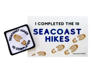 Seacoast Hikes patch and sticker