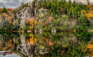 Stonehouse pond in fall